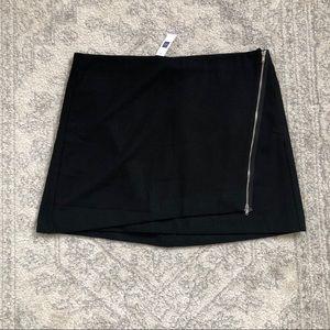 Gap black wool mini skirt with side zipper